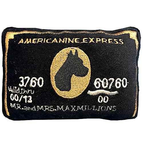 Express Alcohol - Dog Diggin Designs Squeaky Plush Toys - Credit Cards (Americanine Express Bark Card)