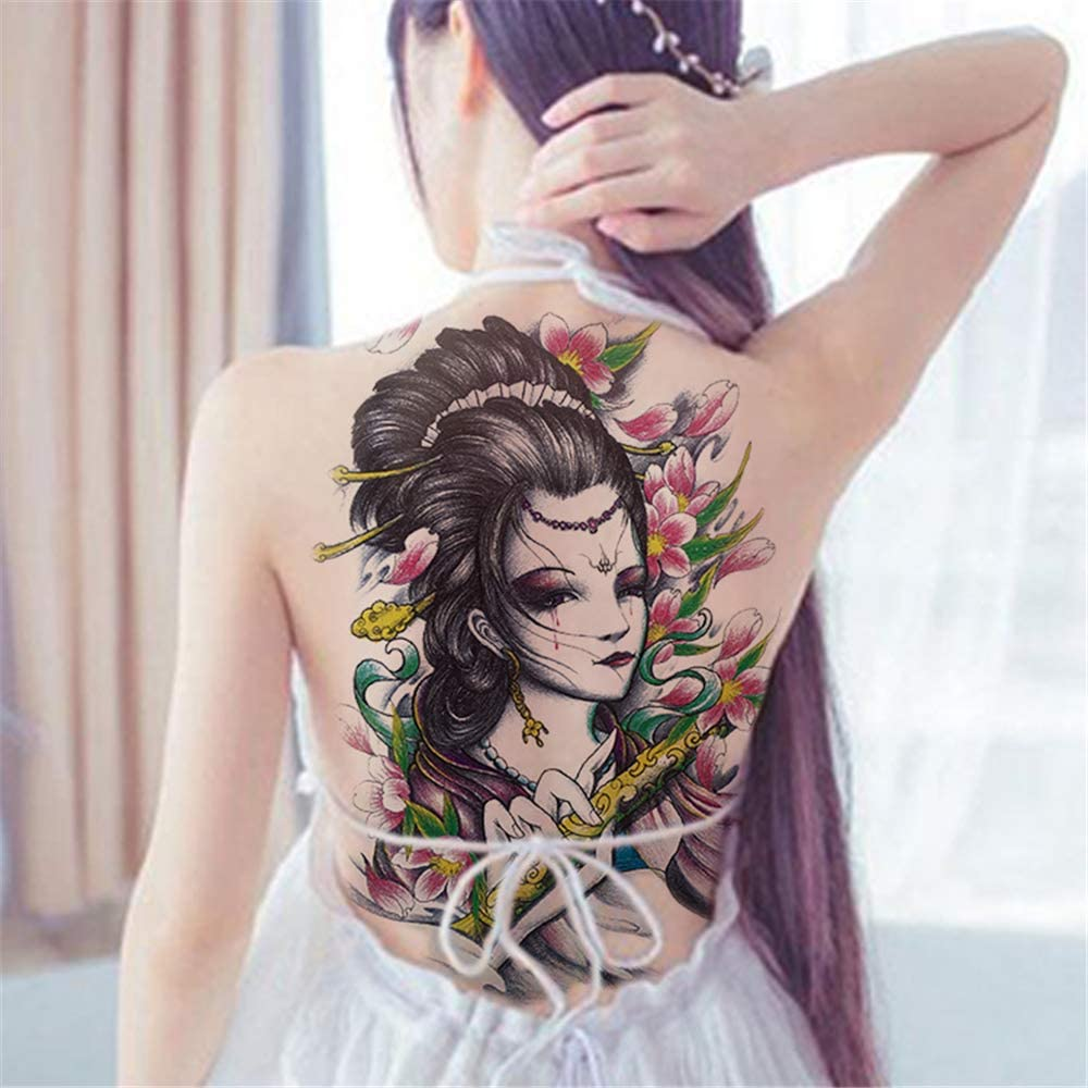 tzxdbh Respaldo Completo Imagen Grande, Pegatinas de Tatuaje ...