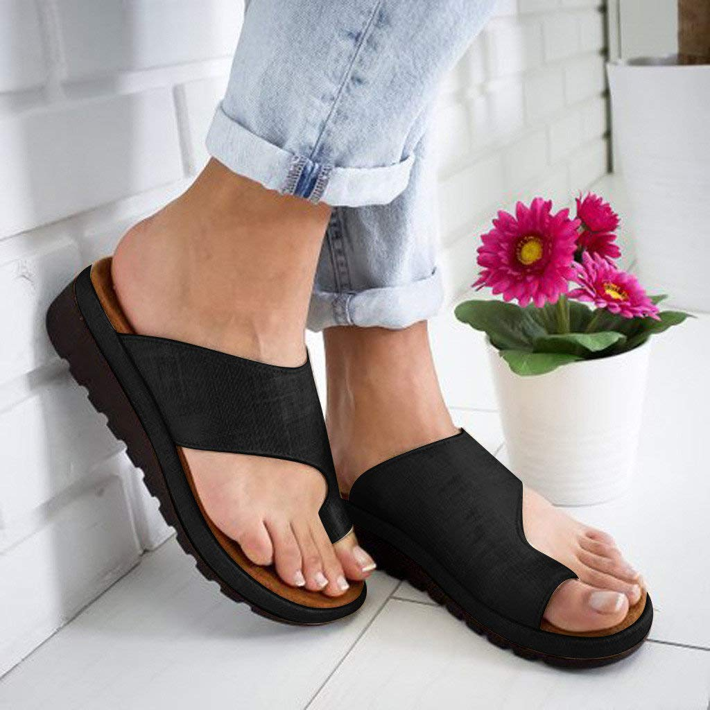 Women's Aditi Low Wedge Dress Sandals Casual Flip Flops Buckle Strap Wedges Sandals Platforms Shoes by NIKAIRALEY Shoes (Image #4)