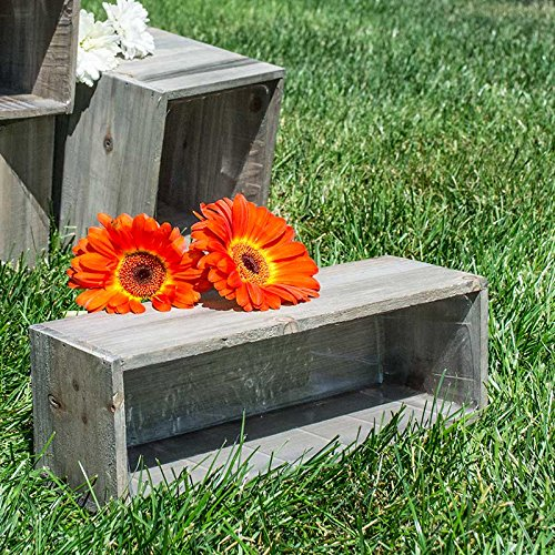 Review Wooden Planter Box, Rustic