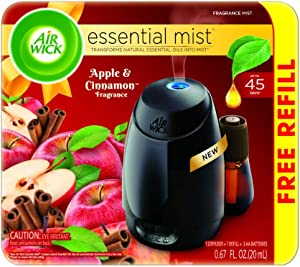 Air Wick Apple & Cinnamon Scented Starter Kit Free Refill, Pack of 1
