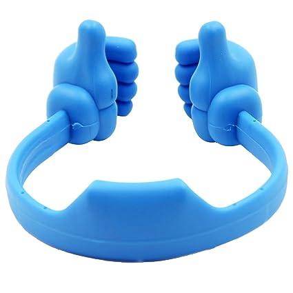 Aikesi teléfono flexible Cama con forma de pulgar Soporte para teléfono móvil Soporte móvil para mesa