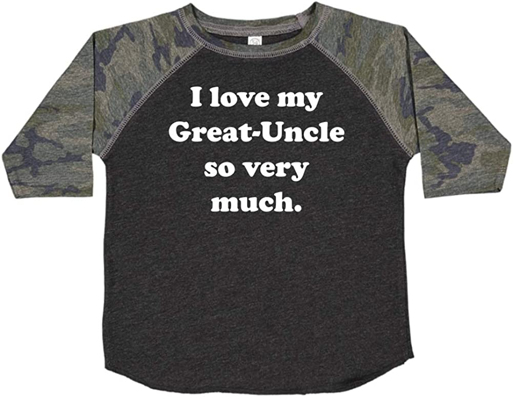 I Love My Great-Uncle So Very Much Toddler//Kids Raglan T-Shirt