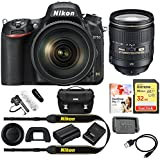 Nikon D750 DSLR 24.3MP Digital Camera + 24-120mm f/4G ED VR Lens Bundle Includes Stereo/Mono Camera Mount Microphone, 32GB Extreme SD Memory Card, Corel PaintShop Pro X9 & Deluxe DSLR Camera Case