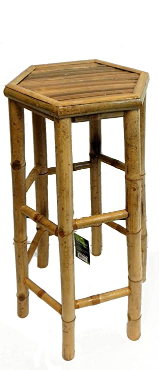 Amazon Com Master Garden Products Hexagon Bamboo Bar Stool Kitchen