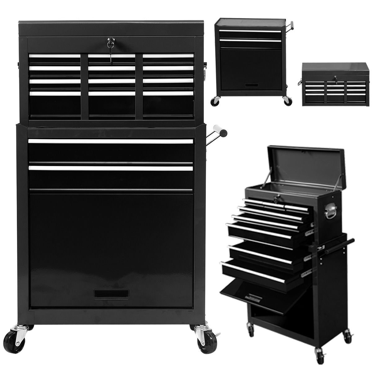 Portable Top Chest Rolling Tool Storage Cabinet Organizer 6 Sliding Drawers Bonus free ebook By Allgoodsdelight365