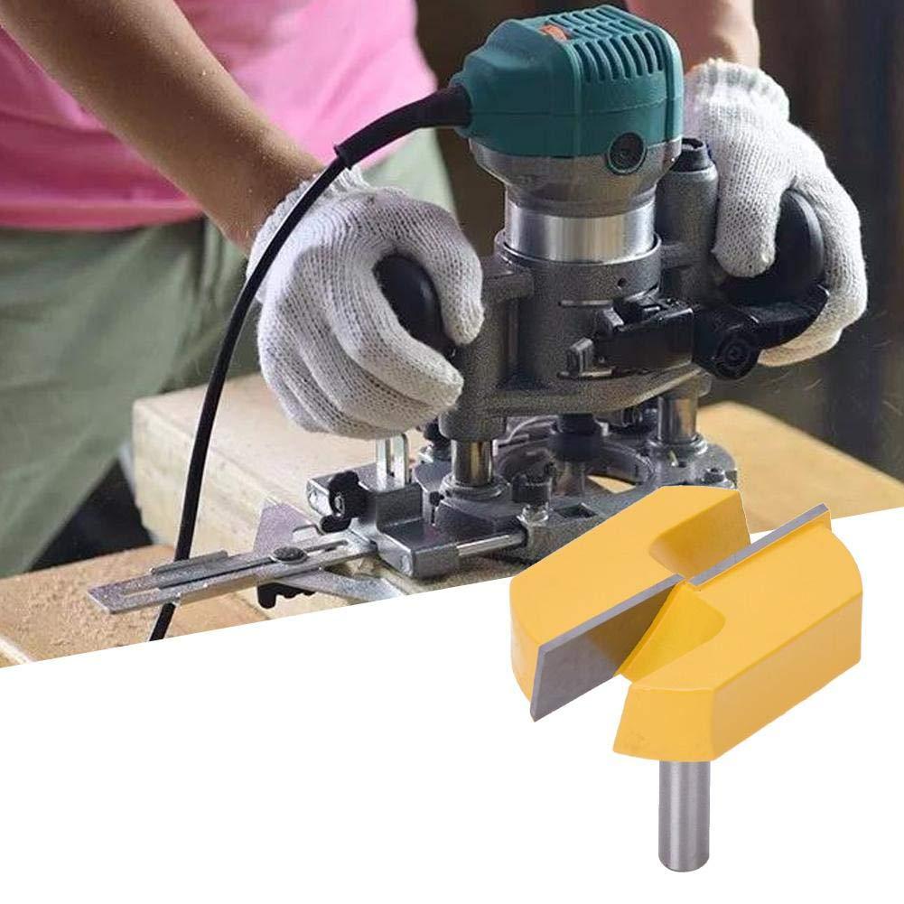 Limpieza de Brocas de Fresadora de Fondo Fresa de V/ástago de 8 mm Broca de Fresado de Superficie Inferior Fresa de Carpinter/ía 8x57 mm