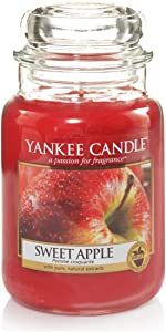 Yankee Candle Sweet Apple Large Jar Candle, Youth 11-13, Red