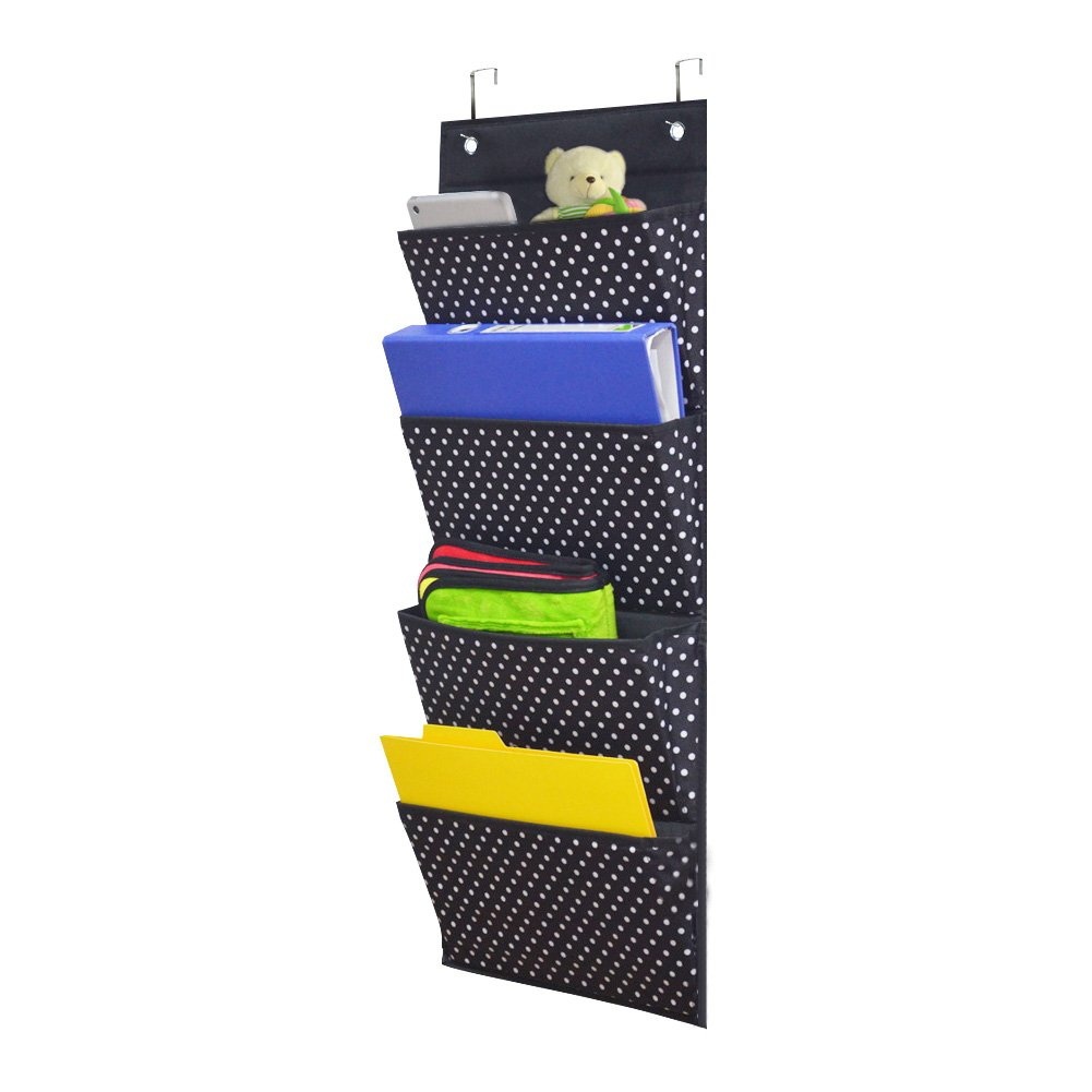 Godery Over The Door Hanging Office Storage, Premium Cascading Wall Organizer, Wall Mount Office Supplies Storage Organizer Fabric for School, Classroom, Home, Closet