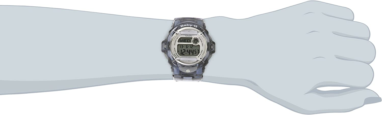 Casio Women s BG169R-8 Baby-G Gray Resin Sport Watch