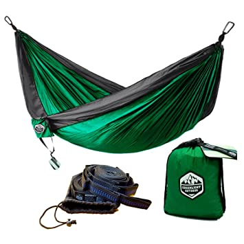 greenlight outdoor camping hammock with hammock tree straps   lightweight parachute portable backpacking hammock   2 amazon     greenlight outdoor camping hammock with hammock tree      rh   amazon