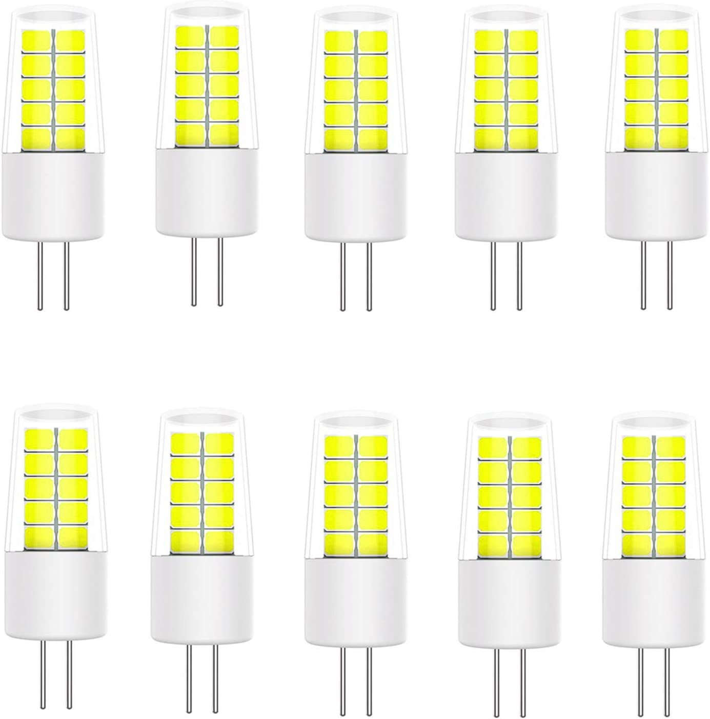 10 Pack for Chandelier YWX LIGHT G4 LED Bulbs,3W Replace 20W 30W Halogen Bulbs Warm White 3000K 360/° Beam Angle No Flicker Non-dimmable Energy Saving Light Bulbs AC//DC 12V