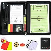 Shogpon Draagbare professionele voetbal tactiek Board magnetische coaching board klembord met fluitje, markeerstukken…