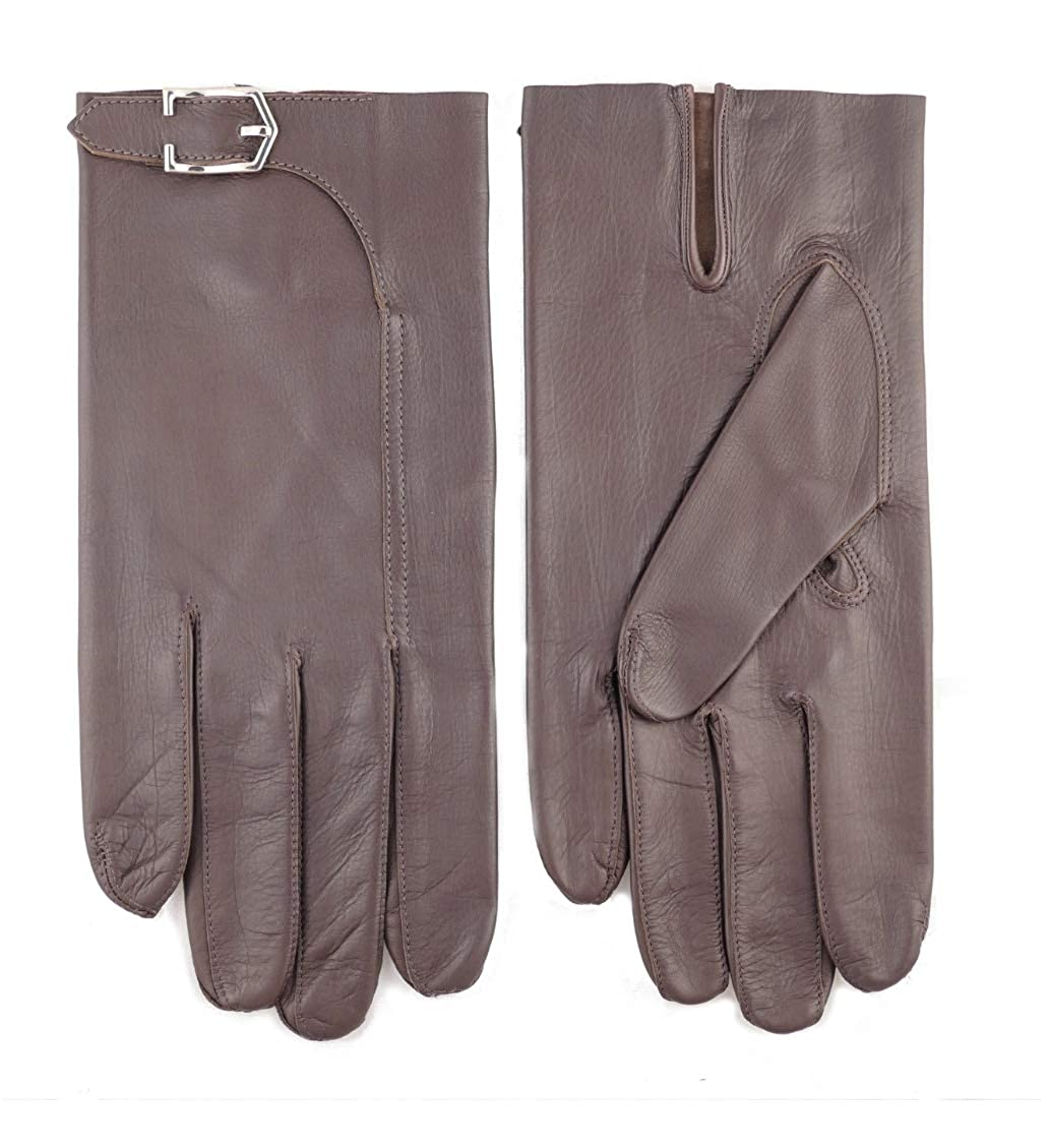 John Lobb Handmade Luxury Twinstitch Buckle Gloves Brown