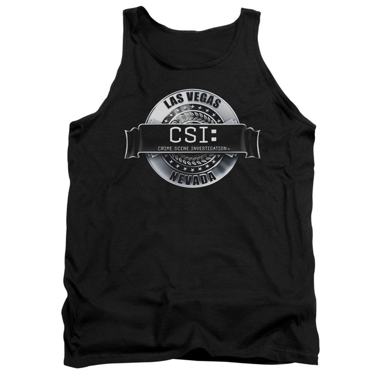 CSI TV Show CBS Rendered Logo Adult Tank Top Shirt