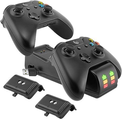 Ponkor Estación de Carga del Controlador Xbox One, Cargador Mando ...