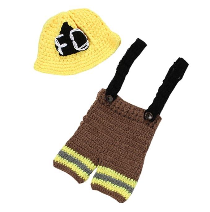 Deley Unisex Baby Häkeln Hero Feuerwehr Uniform Kostüm Kleinkind