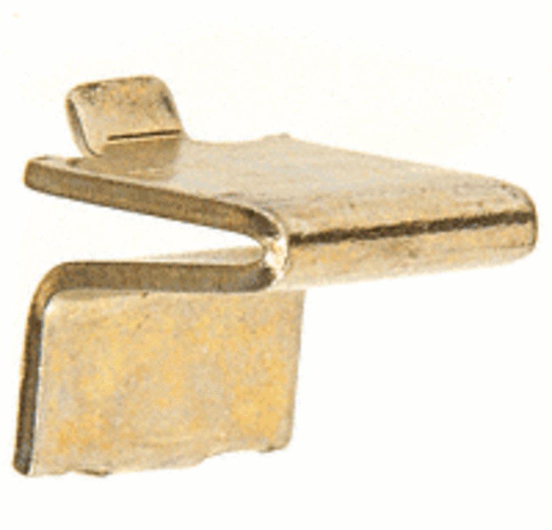 CRL Brass 3/4'' Shelf Support for KV233 or KV255 Standards Pack of 20 by CR Laurence