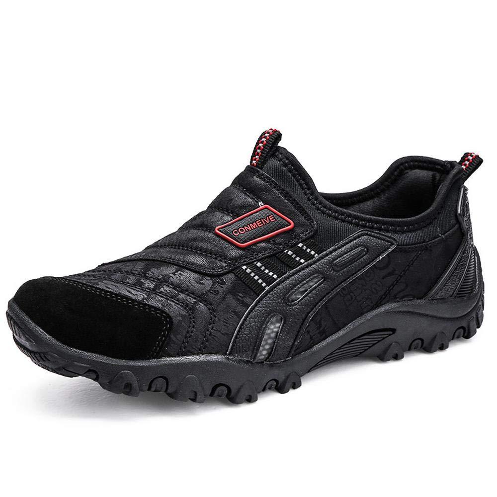 noir EU42 260mm UK8 QAZW Chaussures de randonnée Chaussures à pédales d'extérieur pour Hommes avec Chaussures antidérapantes- idéales Unisex la Marche et la randonnée gris-EU42 260mm UK8