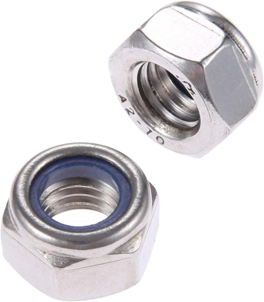 Beennex 165pcs Stainless Steel SS304 Nylon Insert Locknut Assortment Kit M3 M4 M5 M6 M8 M10 M12