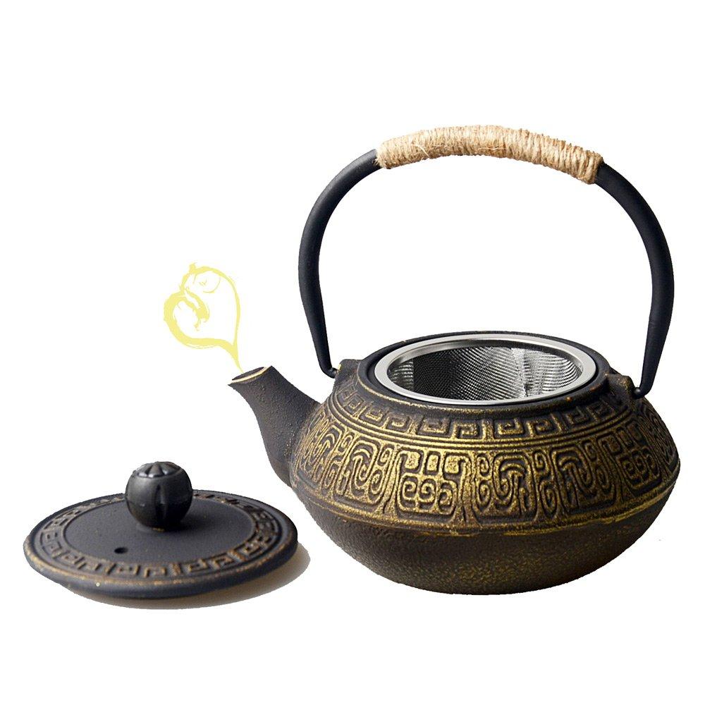 HwaGui-Teteras de Hierro Fundido con teteras de Filtro de Oro con ...