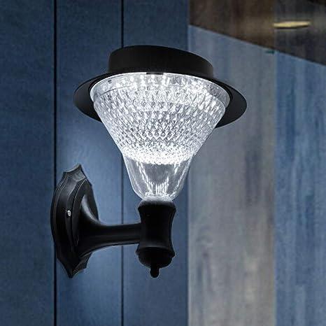 LED Light Wall Mount Solar Powered Outdoor Garden Landscape Hallway Night Lamp