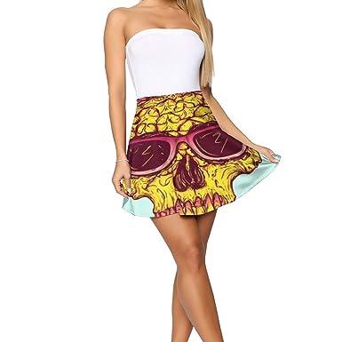 Falda de piña con diseño de Calavera para Mujer, no se decolora ...