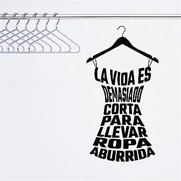 pegatinas de pared buhos Fashional Ropa española Damas vestidor Tienda calcomanías de vestuario: Amazon.es: Bricolaje y herramientas
