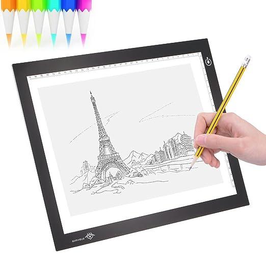 2 opinioni per Asenart® A4 Led Tavoletta luminosa moderno ultra-sottile dimmerabile luminosità