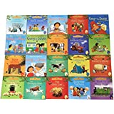 Books - 20Books/Set 15x15cm kids Usborne Picture Books Children Baby famous Story English Child Book Farmyard Tales Story Eary education ()