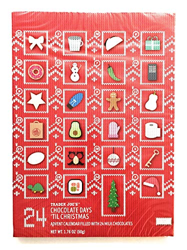 Trader Joe's Advent Calendar 24 Days of Milk Chocolate Design Your Own Ugly Sweater