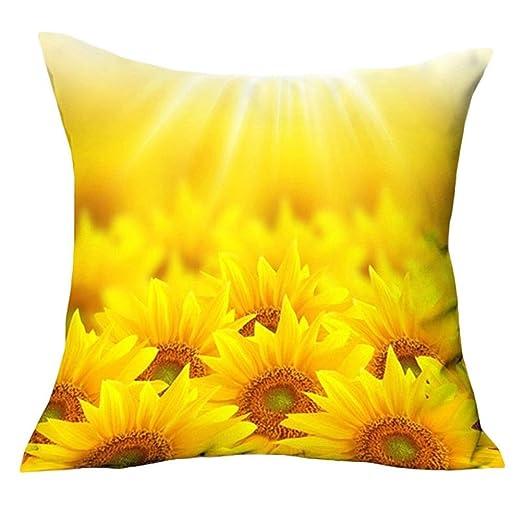 Pu Ran Fashion - Funda de cojín para sofá, diseño de girasol ...