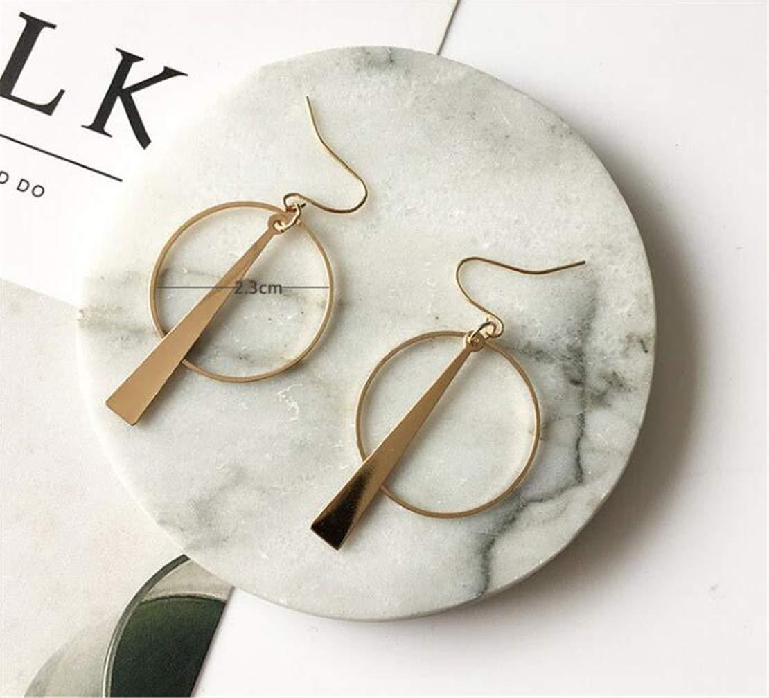 Tmrow 1pair Earrings Gold Plated Full Circle Geometric Hoop Earring for Women