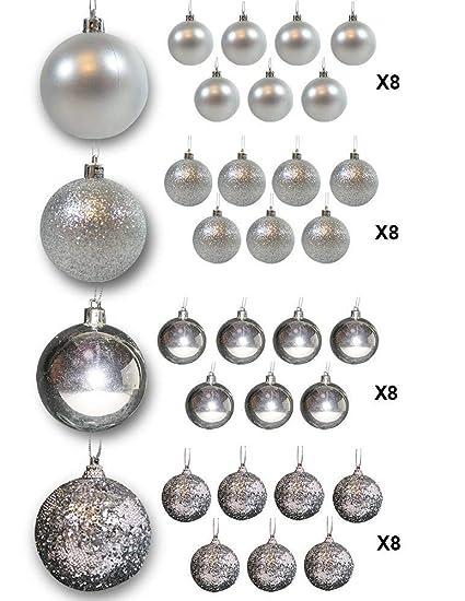 amazon com christmas ball ornaments silver ball ornaments pack