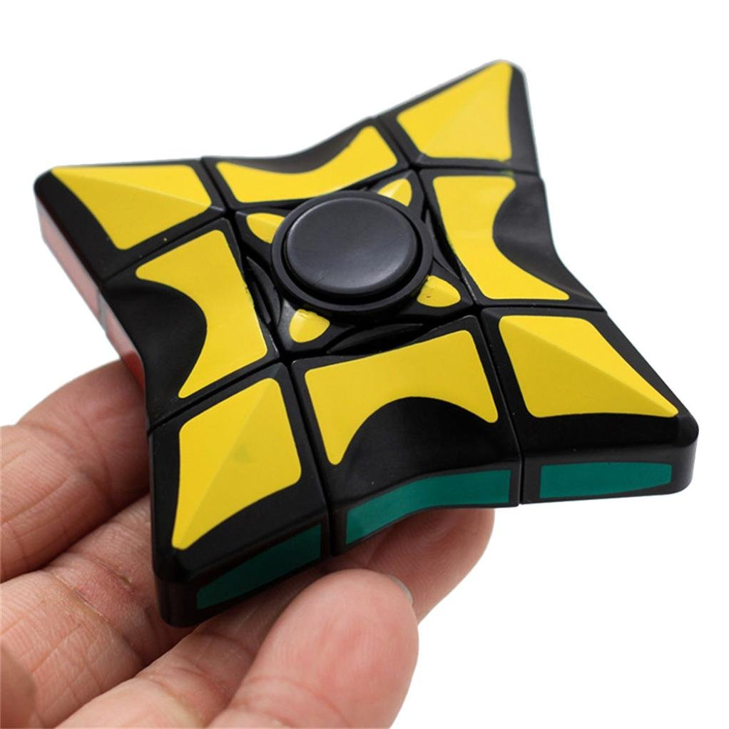 Naladoo 1Pc Smooth and Speed 1x3x3 Rubiks Cube Puzzle Spinner Focus EDC Toy for Stress Relief IU32566436436