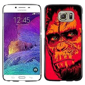EJOY---Cubierta de la caja de protección la piel dura para el ** Samsung Galaxy S6 ** --Red Monkey Gorila
