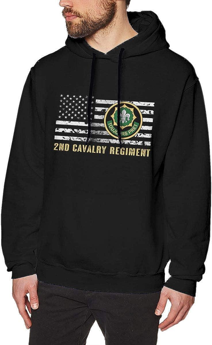 Fxd 2nd Cavalry Regiment Mens Pullover Hooded Sweatshirt Long Sleeve Hoodies