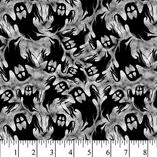 Halloween Shadow Ghosts Cotton Fabric by The Yard]()
