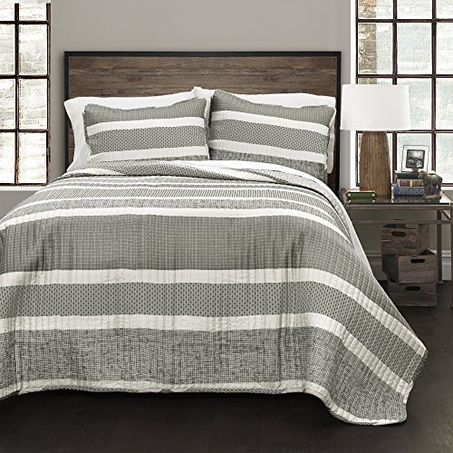 Lush Decor Lush Décor Geometric Stripe 3 Piece Quilt Set, F