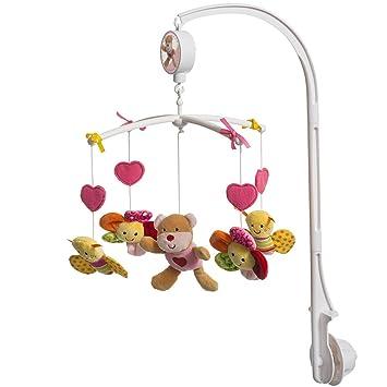 rosa Schmetterling und Blumen Unbekannt Musik Mobile mit B/ärchen einfache Montage /• Musikmobile Baby Spieluhr waschbar Spielzeug Einschlafhilfe