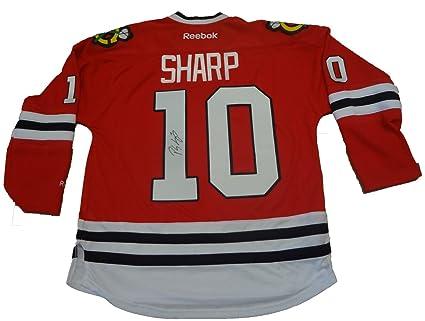 56e8118e8f6 Patrick Sharp Autographed Chicago Blackhawks Jersey W PROOF