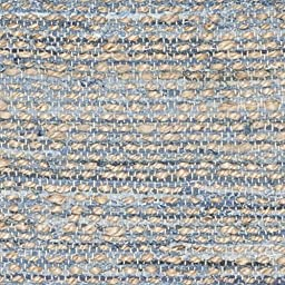 Safavieh Cape Cod Collection CAP350A Hand Woven Flatweave Chevron Natural and Blue Jute Runner (2\'3\