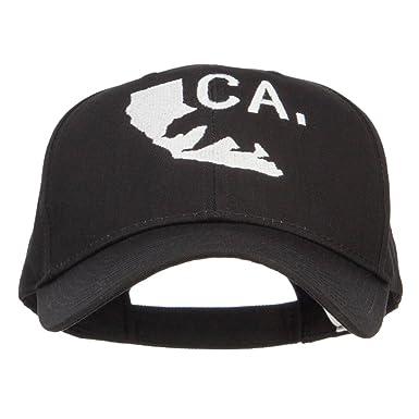 E4hats California Map Bear Embroidered Big Cotton Cap - Black OSFM ... e55758d7a835