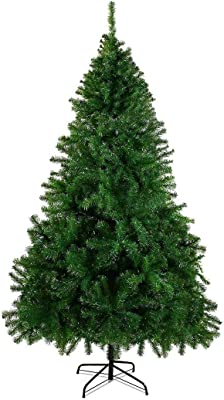 CHEERSON 7.5 ft Premium Christmas Tree, Easy-Assembly Artificial Evergreen Christmas Tree with Solid Metal Legs