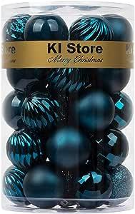 BusyBee Azul Bolas de Navidad de 4cm 34 Piezas para la decoración del árbol de Navidad Adornos de árbol de Navidad: Amazon.es: Hogar