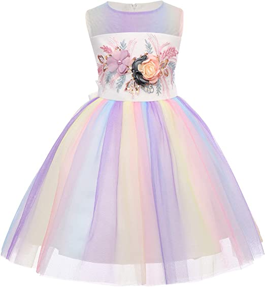 Baby Kid Girl Tulle Tutu Dress Fairy Pageant Party Wedding Skirt Long Sleeve 0-4