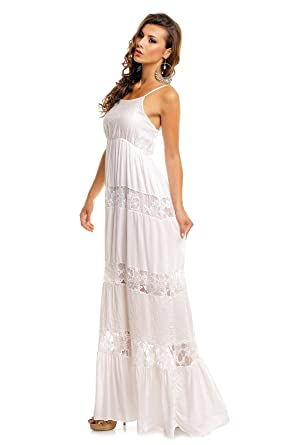 Spitze Boho Damen Mit Vintage Lang Kleid Sommerkleid Ibiza Style 8XnOPk0w