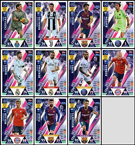 Komplettes Set von 11 UCL Centurion Karten Road to Madrid 19 Match Attax 18//19 Champions League Extra