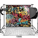 SJOLOON 10X10ft Graffiti photo wallpaper street art graffiti wallpaper street style mural Great Art Photography Backdrop Photo Background 10585