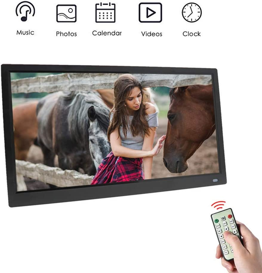 178 /° Full-View IPS Screen Support 1080P Videos Photos Auto Rotate HDMI Input,Support USB and SD Card,Black MUYEY HD Digital Photo Frame15.6 Inch 1280x1080